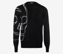 Rundhalspullover mit extragroßem Skull