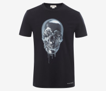 T-Shirt mit Metallic-Skull
