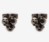 Manschettenknöpfe mit drei Skulls