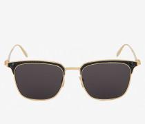 Skull-Sonnenbrille im Clubmaster-Stil