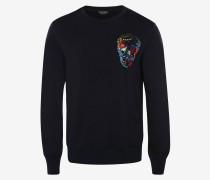 Sweatshirt mit aufgesticktem Skull