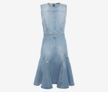 Denim-Kleid in verblasster Optik