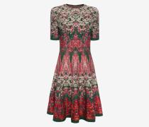 Minikleid aus Jacquard-Strick mit Blumenbeet