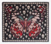 Skull-Foulard mit riesigem Schmetterling