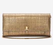 Kontinentalbrieftasche aus Leder mit Skull