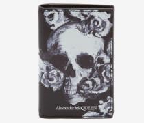 Taschen-Organiser mit Skull-Rosen-Motiv