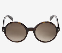 Runde Sonnenbrille mit winzigen Nieten
