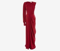 Einärmliges Abendkleid aus Satin