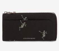 """Kontinentalbrieftasche """"Dancing Skeleton"""" mit Rundumreißverschluss"""