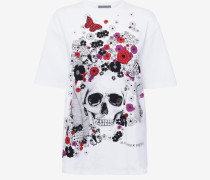 Oversized-T-Shirt mit Skull