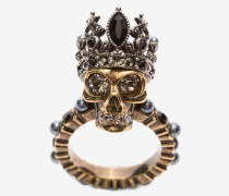 Ring mit Queen Skull