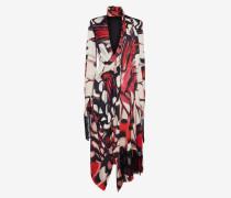 Schal-Kleid mit Distelfalter