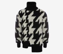 Pullover mit Rollkragen und Hahnentrittmuster