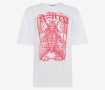 T-Shirt mit eingefasstem Falter