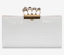 Schmuckverzierte Pochette mit vier Ringen