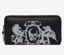 Brieftasche mit Reißverschluss und Wappen