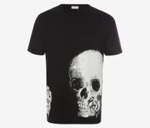 T-Shirt mit Skull-Rosen-Motiv