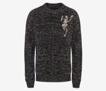 Grob gestrickter Pullover Dancing Skeleton
