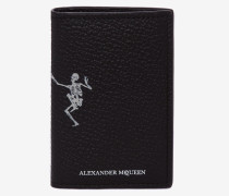 "Pocket Organiser ""Dancing Skeleton"" aus Leder"