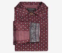 Seidenhemd mit Paisley-Muster
