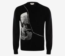 """Pullover mit """"Torn Skull""""-Intarsie"""