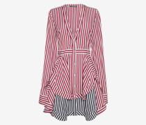 Gestreiftes Mini-Hemdkleid