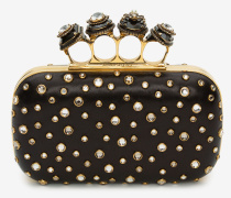 Jewelled Four Ring Box Clutch mit Spinne und vier Ringen