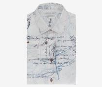 Schmal geschnittenes Hemd mit Explorer-Print
