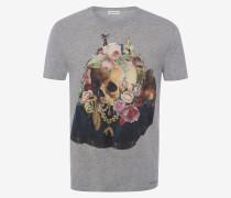 T-Shirt mit Skull-Stillleben-Motiv
