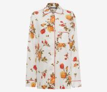 Pyjama-Hemd mit Foulard-Print