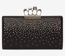 Flache Pochette mit Skull und vier Ringen