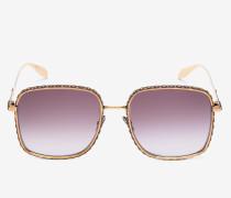 Quadratische Sonnenbrille mit Schmuckverzierung