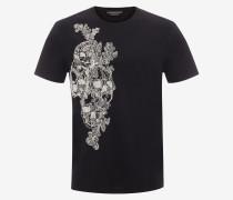 T-Shirt mit aufgesticktem Skull