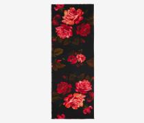 Schal Painted Roses mit Webleiste