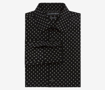 Hemd aus Crêpe-de-Chine-Seide mit Mini Skull
