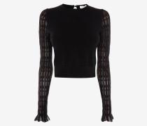 Karierter Pullover aus Metallic-Garn