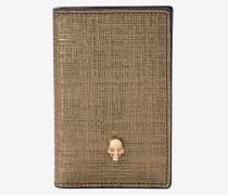 Taschen-Organiser aus Leder mit Skull
