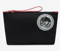 Case mit Skull-Badge und Reißverschluss