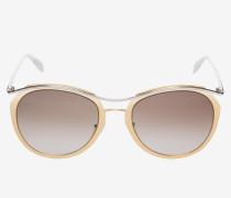 Sonnenbrille mit geschwungenem Metallelement