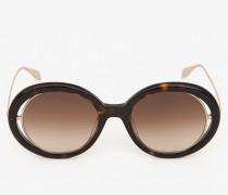 Runde Sonnenbrille mit offener Drahtkonstruktion