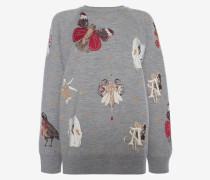 Sweatshirt mit gotischen Märchen-Motiven
