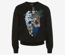 Sweatshirt mit Skull-Print