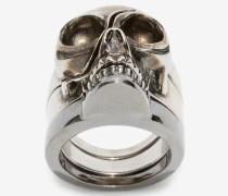 Ring mit geteiltem Skull