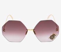 Sechseckige Sonnenbrille mit Jewelled Käfer