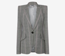 Couture-Jacke mit Glencheck-Muster