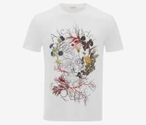 T-Shirt Glowing Botanical Skull