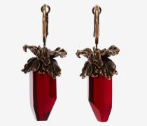Ohrringe mit Schwertlilien-Anhänger