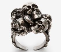 Ring Multi Skull and Snake