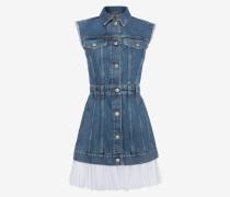 Ärmelloses Mini-Jeanskleid