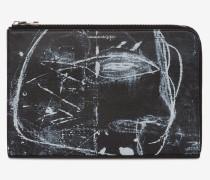 Kleine Pochette mit halbem Reißverschluss John Deakin